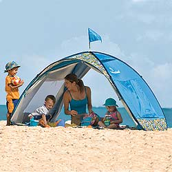 Premier Baby Concierge Blog Fun In The Sun Essentials Pop Up Shade Shack Instant Family Beach Tent